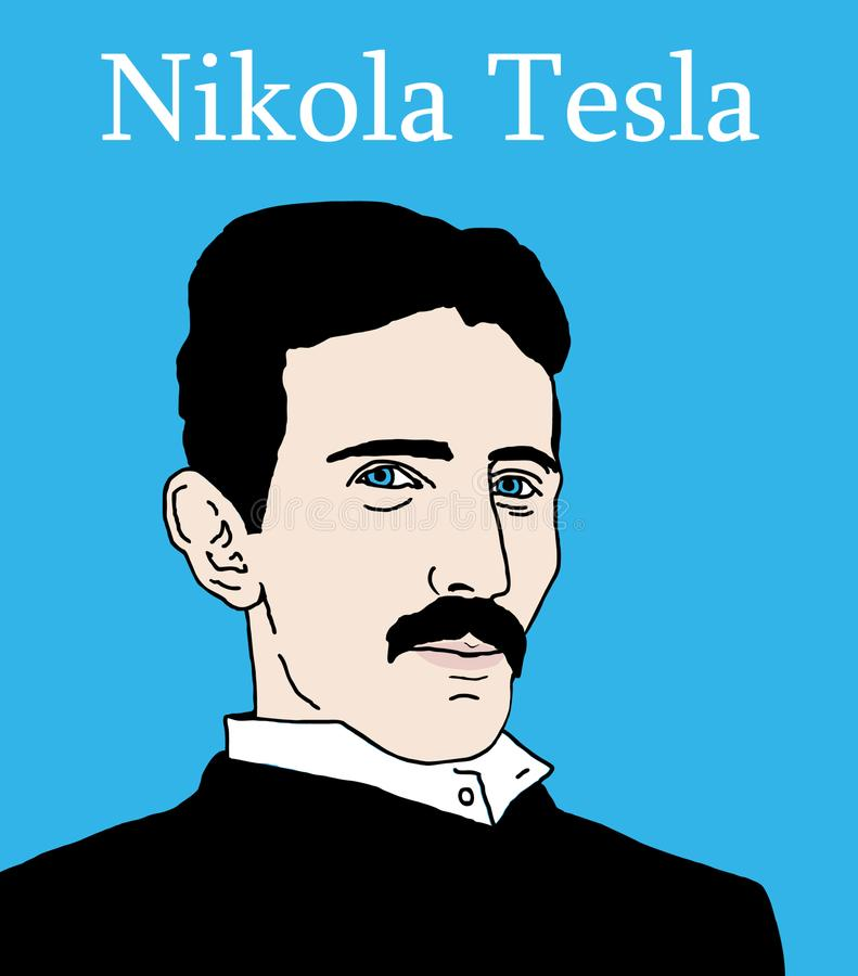 Nikola Tesla stock de ilustración