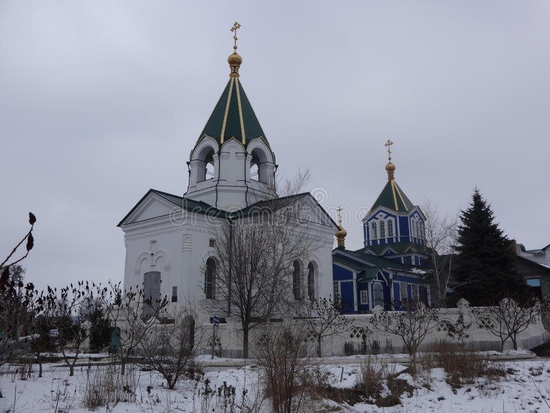 Nikolaev kyrka i Bahmut royaltyfri bild