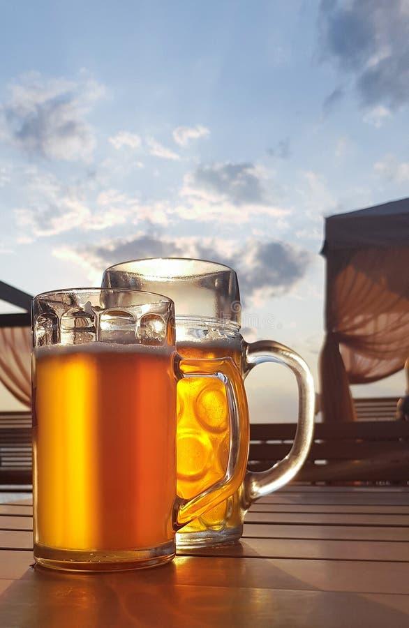 Nikolaev, Ukraina, 6 sierpnia 2019 r.: Szkło piwa lekkiego zdjęcia royalty free