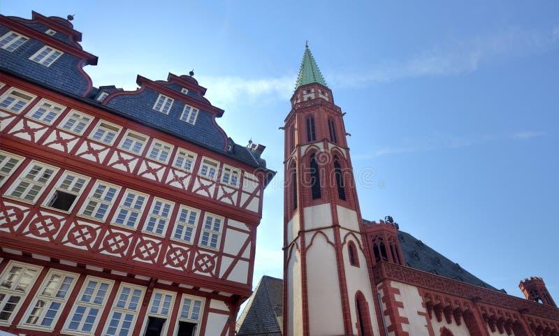 Nikolai kościół w Frankfurt fotografia royalty free