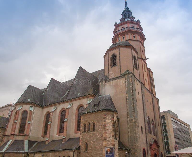 Nikolaikirche莱比锡 库存照片