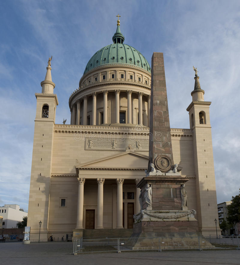 Nikolaikirche (Nikolai-kerk) in Potsdam Duitsland stock fotografie