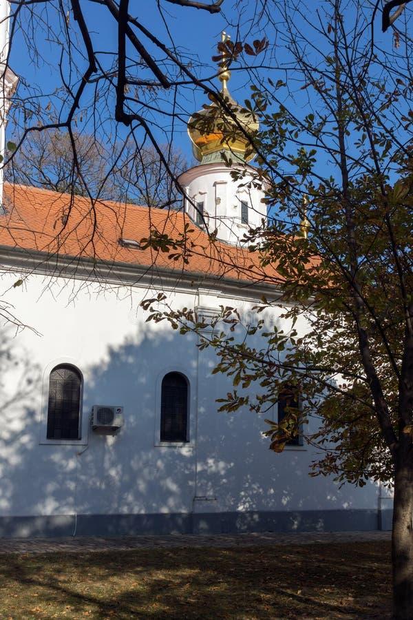 Nikolas Church ortodoxo na cidade de Novi Sad, Vojvodina, Sérvia fotos de stock