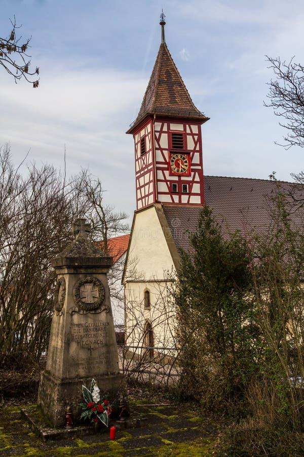 Nikolaus Church Hegnach, Waiblingen royaltyfria bilder