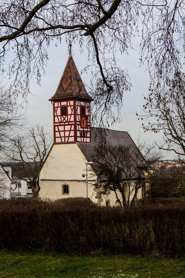 Nikolaus Church Hegnach, Waiblingen arkivfoto