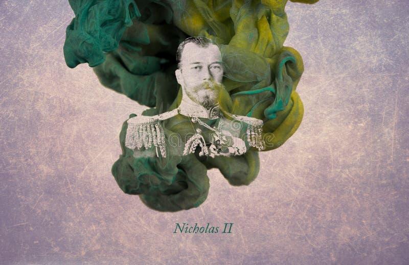 Nikolaus II., ehemaliger Kaiser von allem Russland stock abbildung