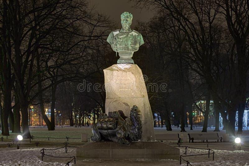 Nikolay Przhevalsky Monument i Sankt Petersburg, Ryssland royaltyfria bilder