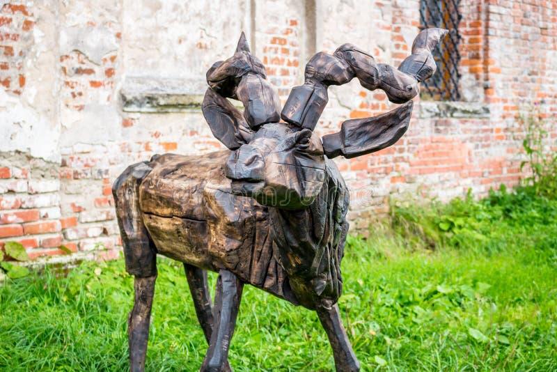 NIKOLO-LENIVETS, ΡΩΣΊΑ - SEP 2015: Ξύλινα προϊόντα και αναμνηστικά στοκ εικόνα με δικαίωμα ελεύθερης χρήσης