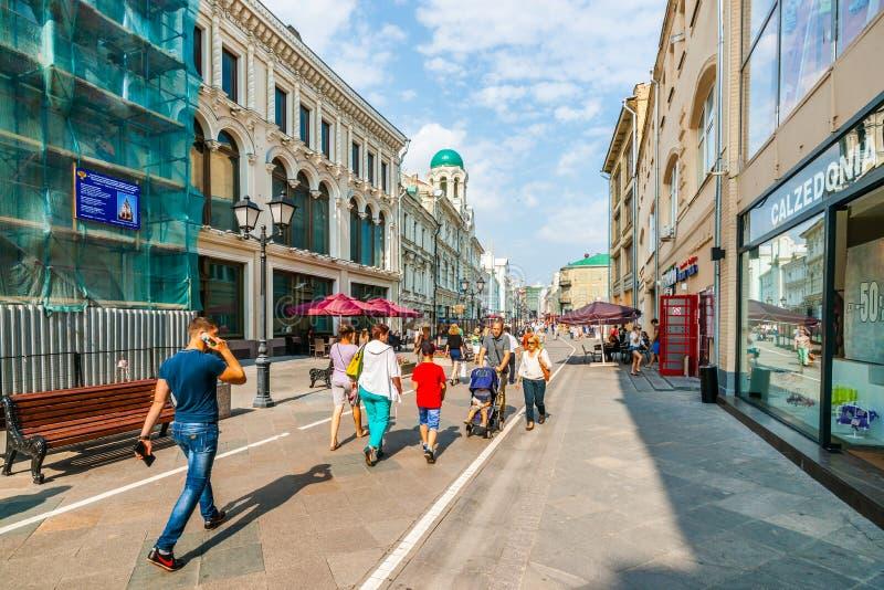 Nikolskaya ulica Moskwa zdjęcia stock