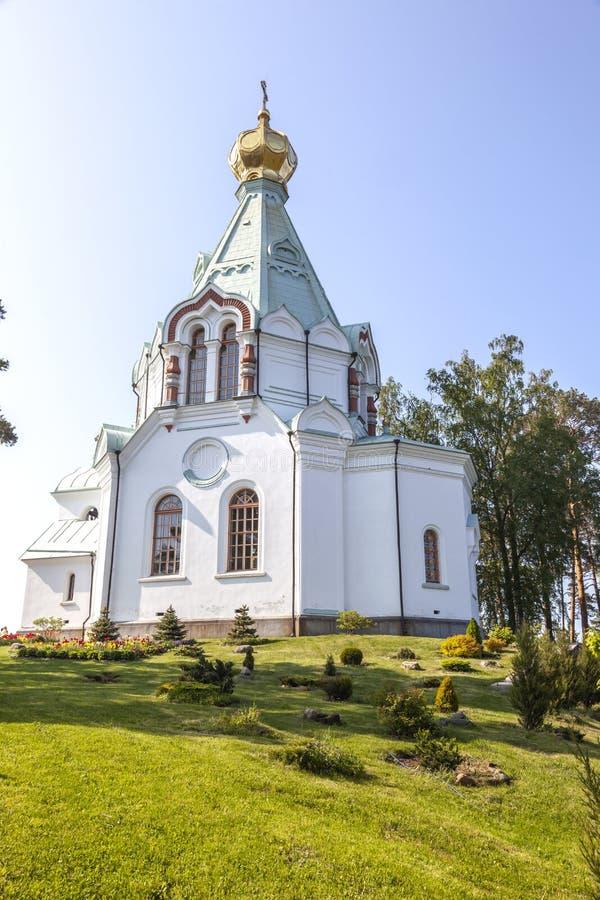 Nikolsky海岛,瓦拉姆群岛 圣尼古拉斯教会  免版税库存图片