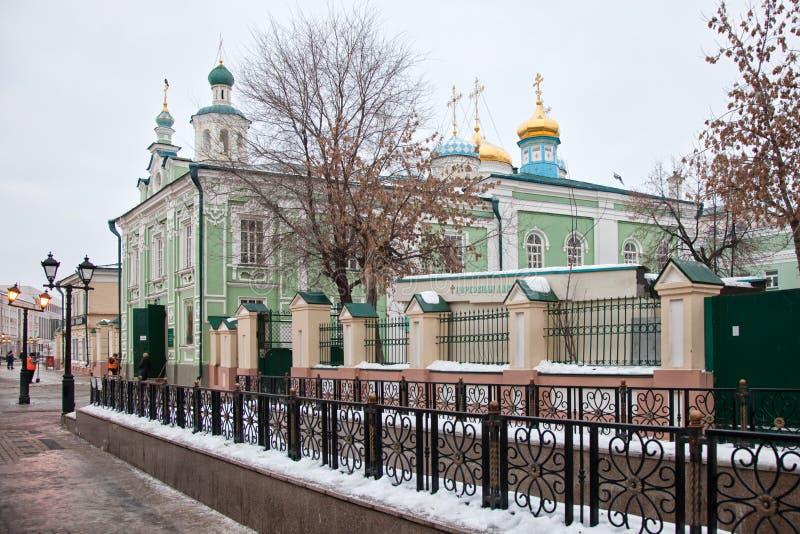 Nikolsky Cathedral in Kazan. Tatarstan. Russian Federation. Baumana street royalty free stock photo