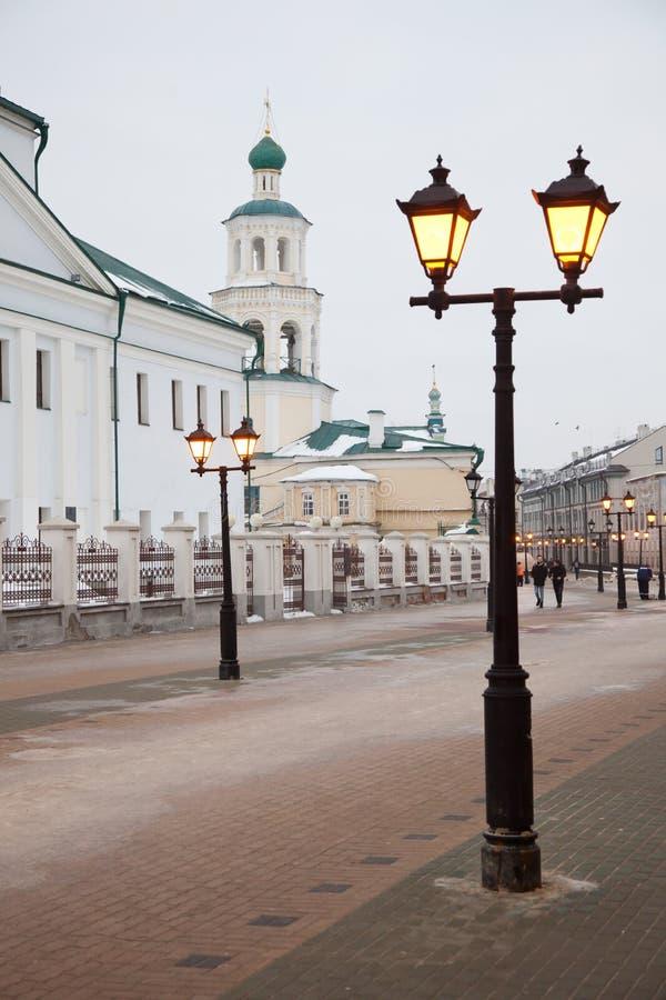 Nikolsky Cathedral in Kazan. Tatarstan. Russian Federation. Baumana street stock photos