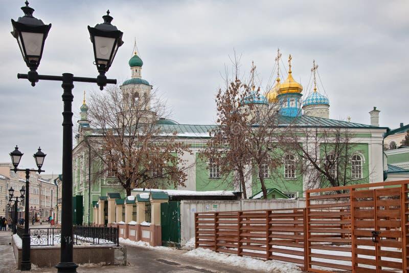 Nikolsky Cathedral in Kazan. Tatarstan. Russian Federation. Baumana street stock image