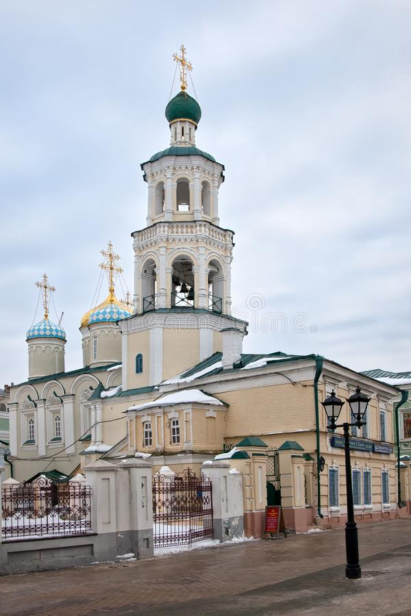 Nikolsky Cathedral in Kazan. Tatarstan. Russian Federation. Baumana street royalty free stock photography
