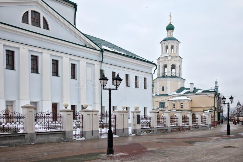 Nikolsky-Kathedrale in Kasan stockbild
