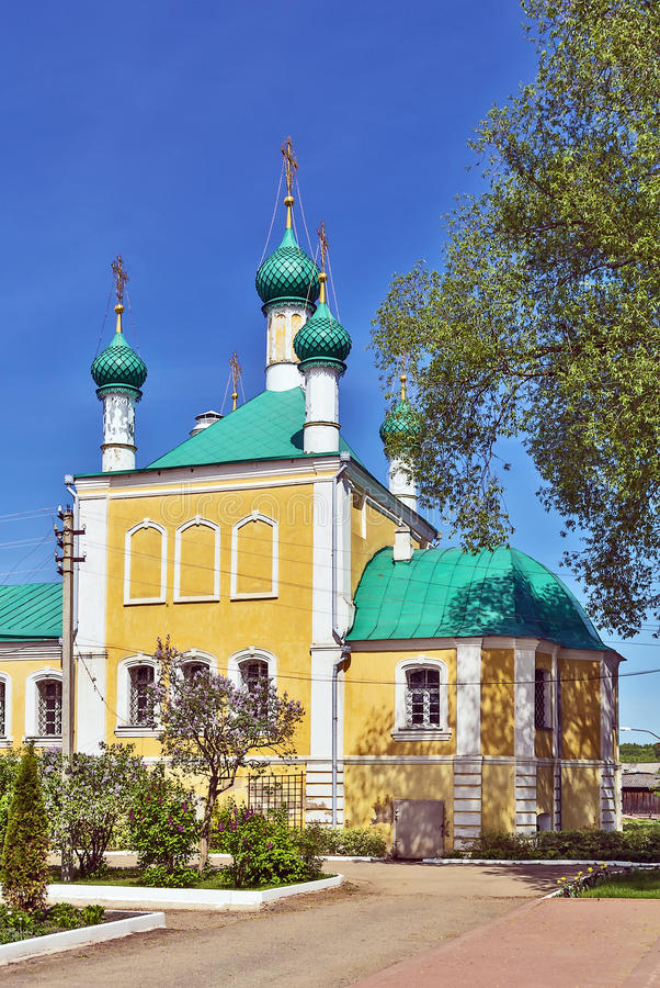 Nikolsky kloster, Pereslavl-Zalessky arkivbilder