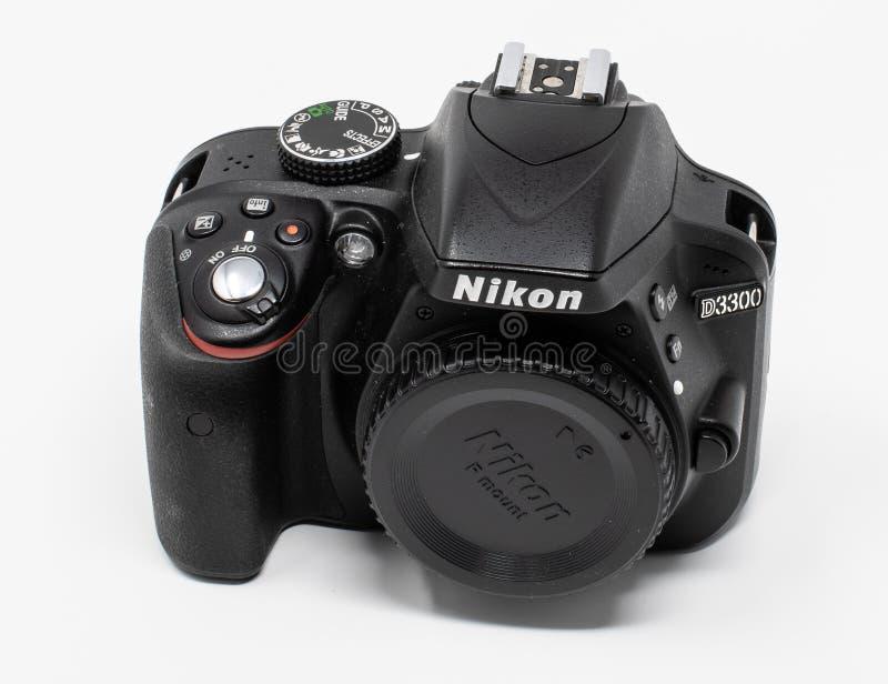 Nikon D3300 kamera royaltyfri bild