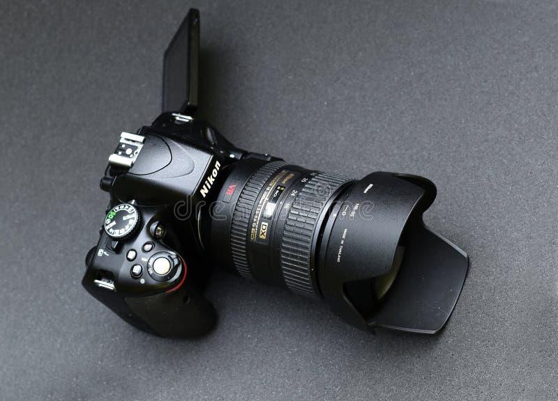 Nikon D5100 lins Nikkor 18-200 royaltyfria bilder