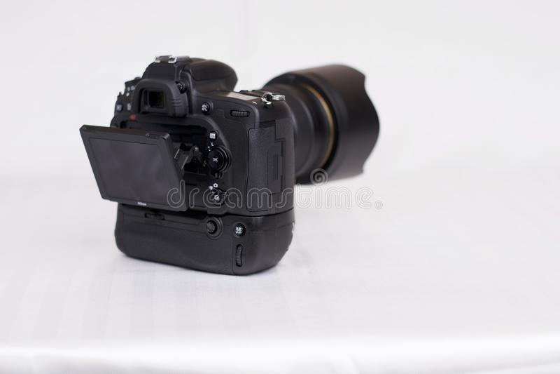 Nikon D750 med MB16 royaltyfri bild