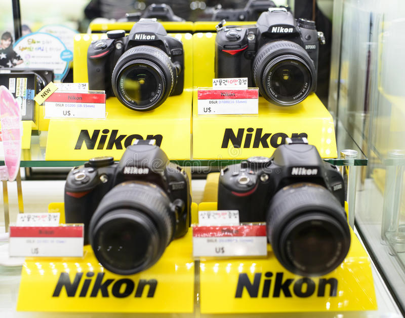 Nikon DSLR stock photo