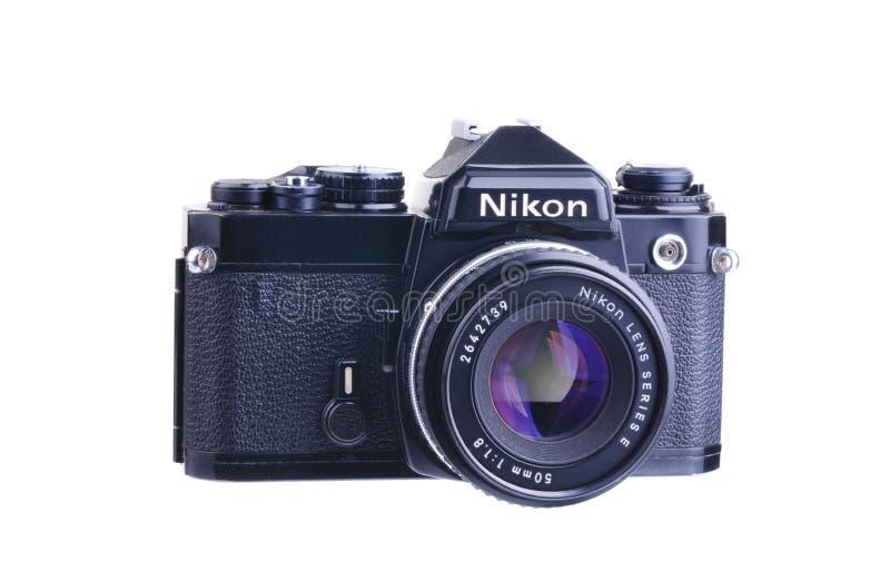 Nikon F.E. stockfotos