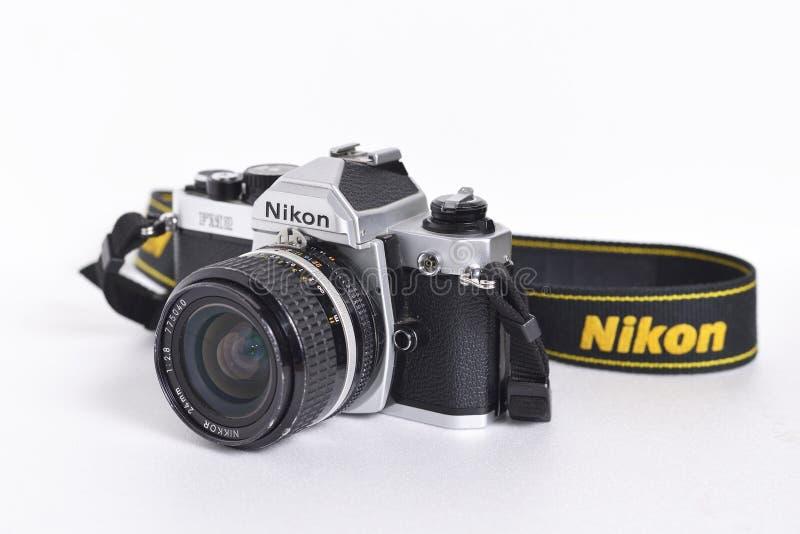 Download Nikon FM2n редакционное стоковое фото. изображение насчитывающей сборники - 101212978