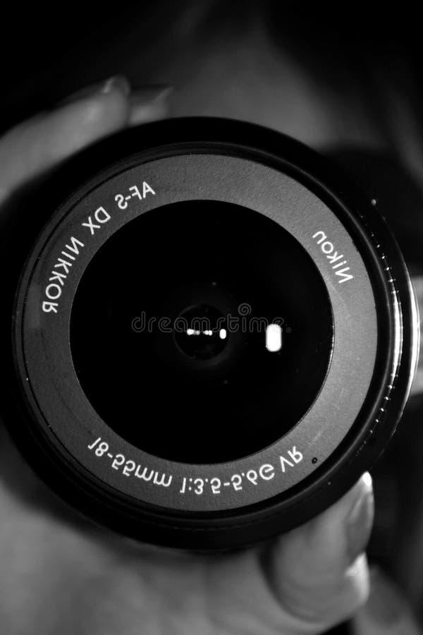 Nikon lins royaltyfri bild
