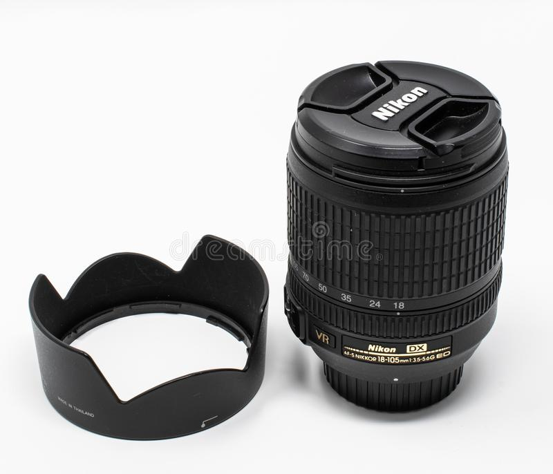 Nikon zoomobjektiv royaltyfria bilder