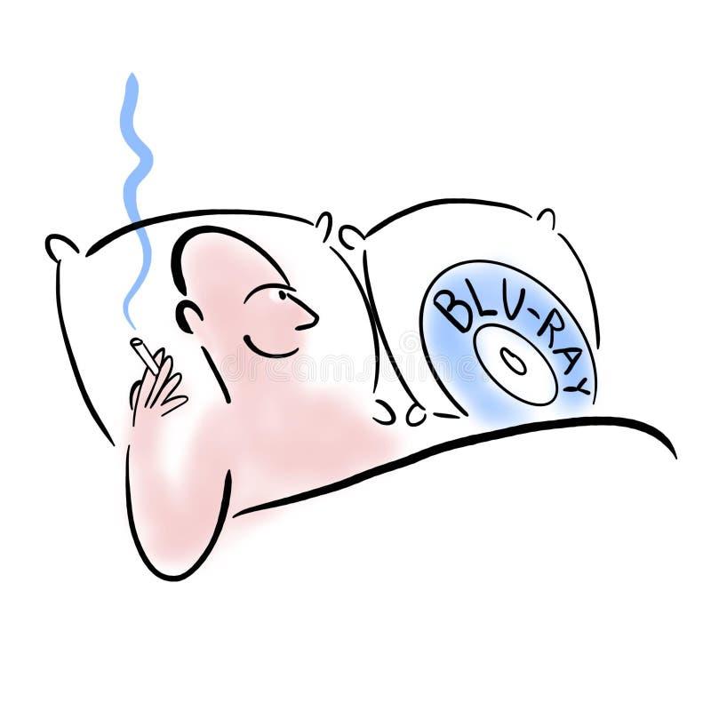 Nikotin förlänger nöjet av visuella stimulanser stock illustrationer