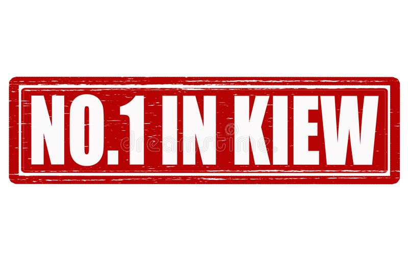 Nikt w Kiew royalty ilustracja