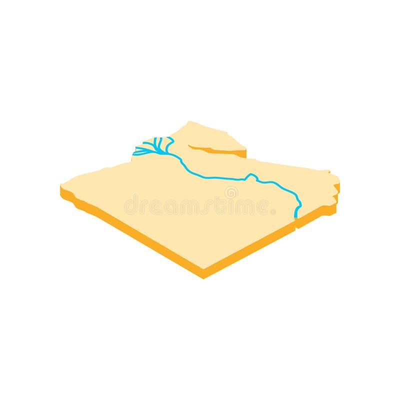 Nil rzeczna ikona, isometric 3d styl royalty ilustracja