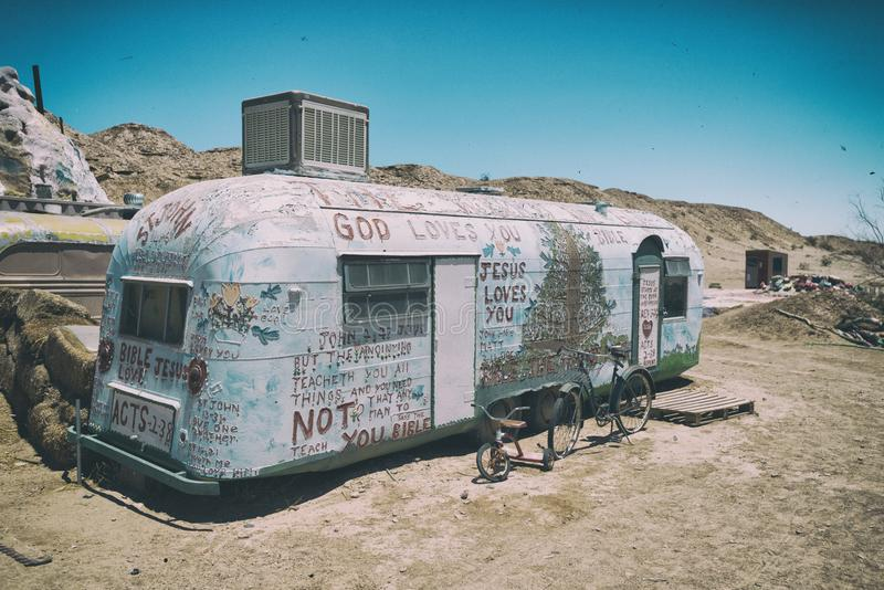Niland,加利福尼亚- 2016年6月26日:救世山加利福尼亚 免版税库存照片