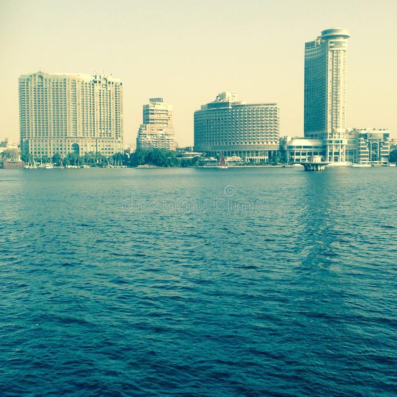 The Nile Cairo stock photo