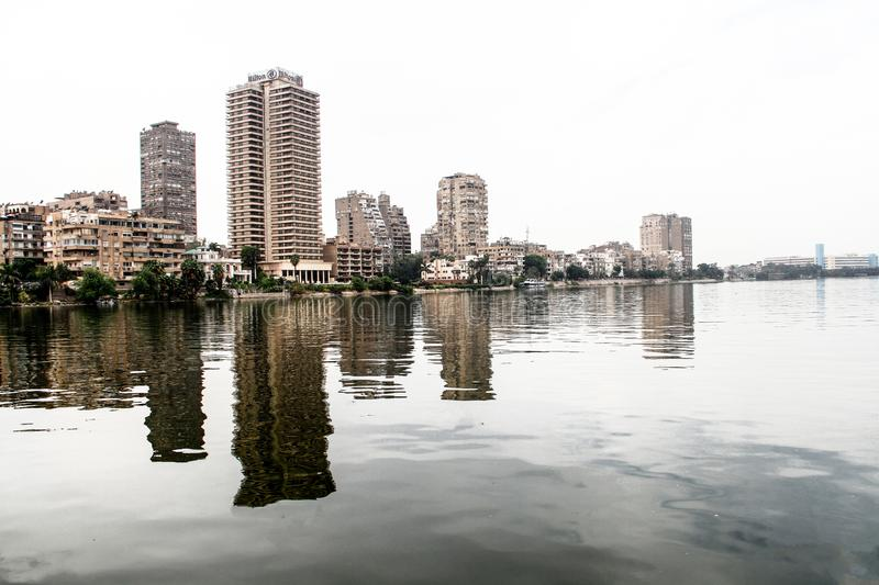 Nile Of Cairo, Egypte stock afbeelding