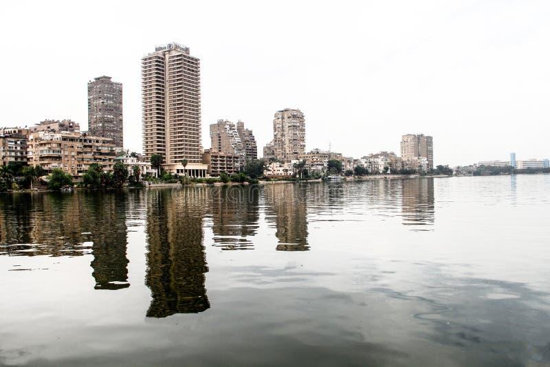 Nile Of Cairo Egypten fotografering för bildbyråer