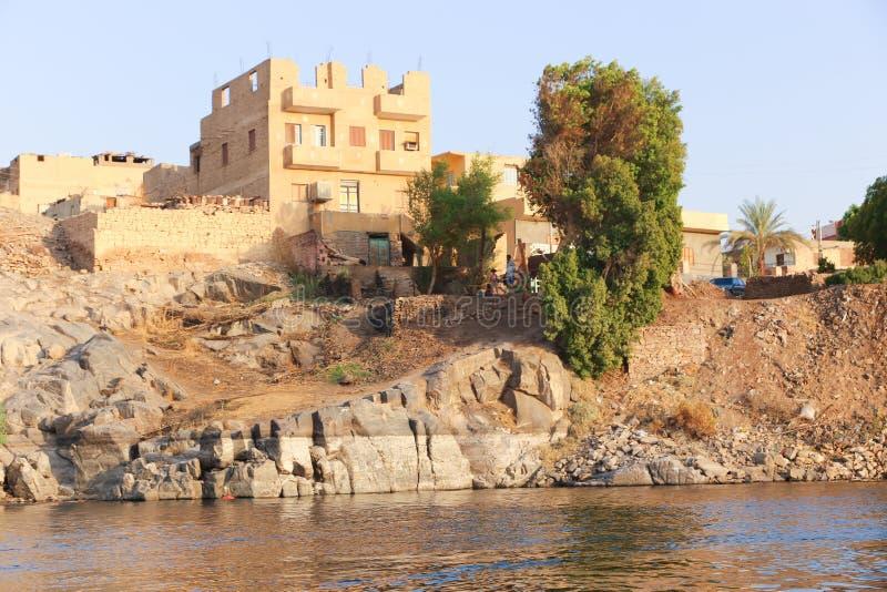 Nile River - Assuan Ägypten stockfotos