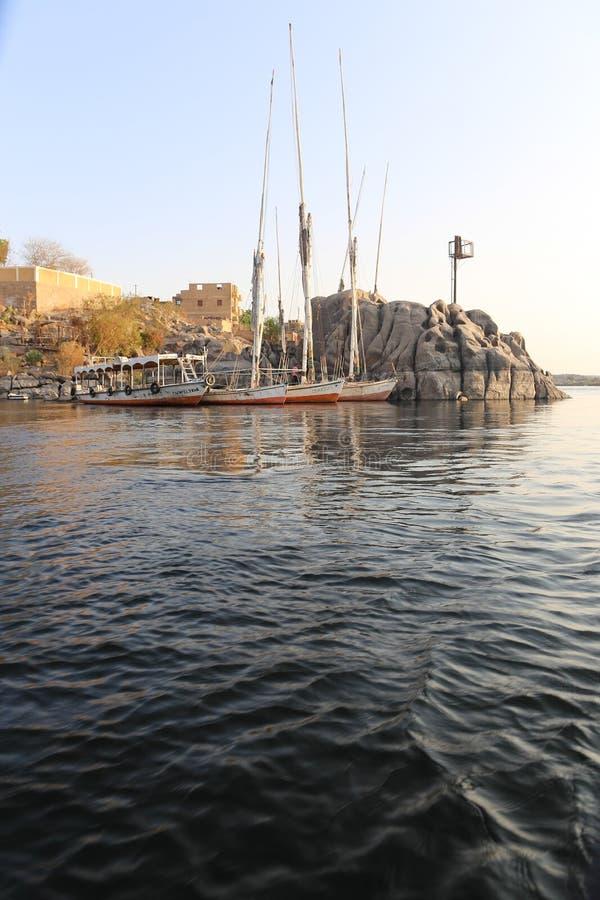 Nile River - Assuan Ägypten lizenzfreies stockfoto