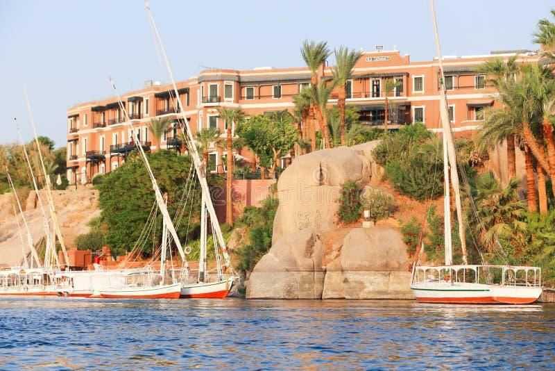 Nile River - Assuan Ägypten stockfotografie