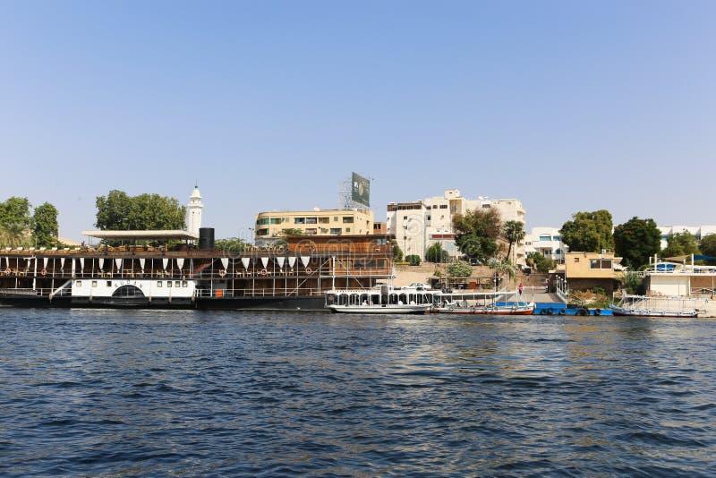 Nile River - Assuan Ägypten stockbilder