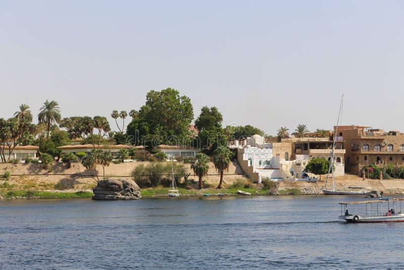 Nile River - Assuan Ägypten stockbild