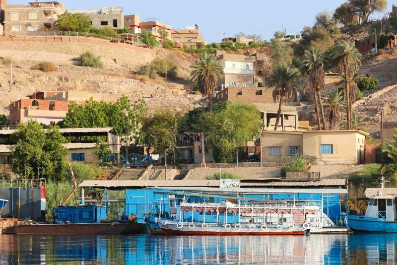 Nile River in Assuan stockfotos