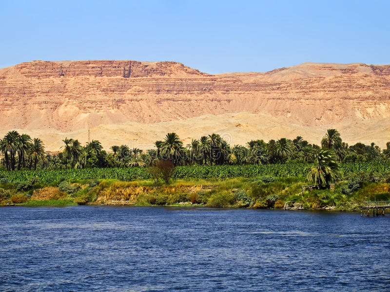 Download Nile river, Egypt stock photo. Image of luxor, blue, palm - 9423640