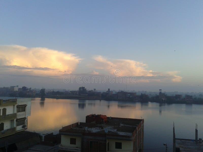 Nile River sikt arkivbilder