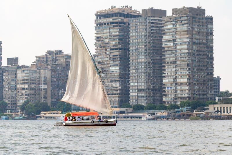 Nile River Views en El Cairo, Egipto imagen de archivo libre de regalías