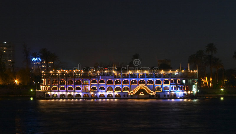 Nile riverboat stock image