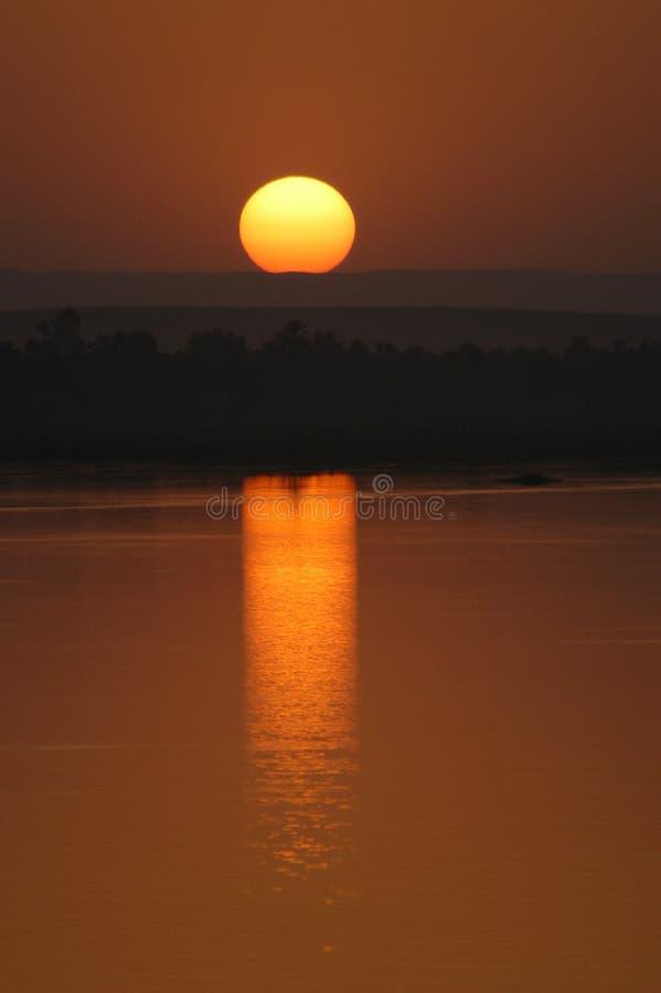 nile solnedgång royaltyfri fotografi