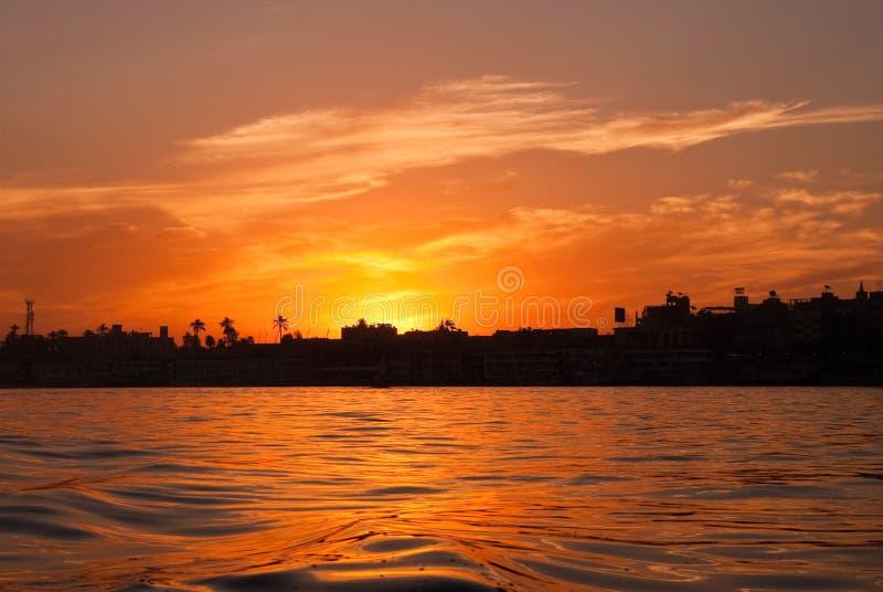 Nile Sunrise stock photo