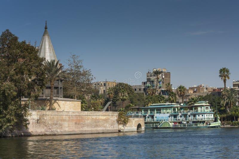 Nileometer in Kaïro royalty-vrije stock foto's