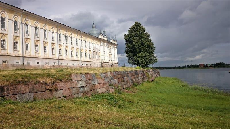 nilo скита stolobensky Монастырь Nilo-Stolobensky расположен в регионе Tver, на озере Seliger, Россия стоковое изображение