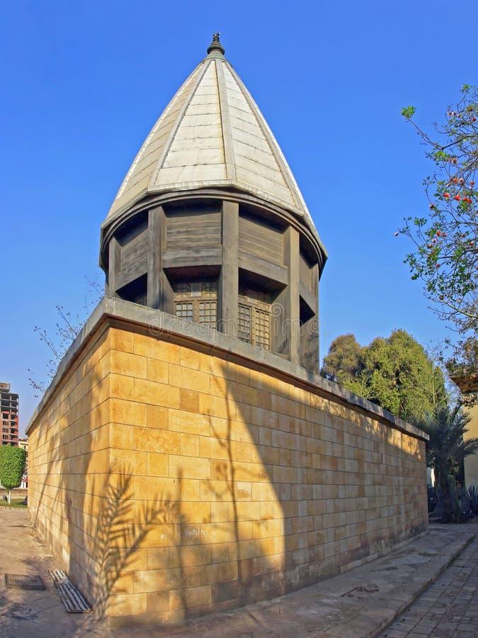 Nilometer Kaïro Egypte royalty-vrije stock foto's